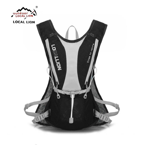 LOCALLION  running bag Sport Rucksacks cycling backpack +1L water bag breathable bicycle bag rainproof outdoor riding bike bags