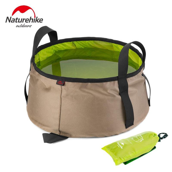 NatureHike 10L Ultralight Outdoor Nylon Folding Water Washbasin Portable Wash Bag Foot Bath Camping Equipment outodor tool