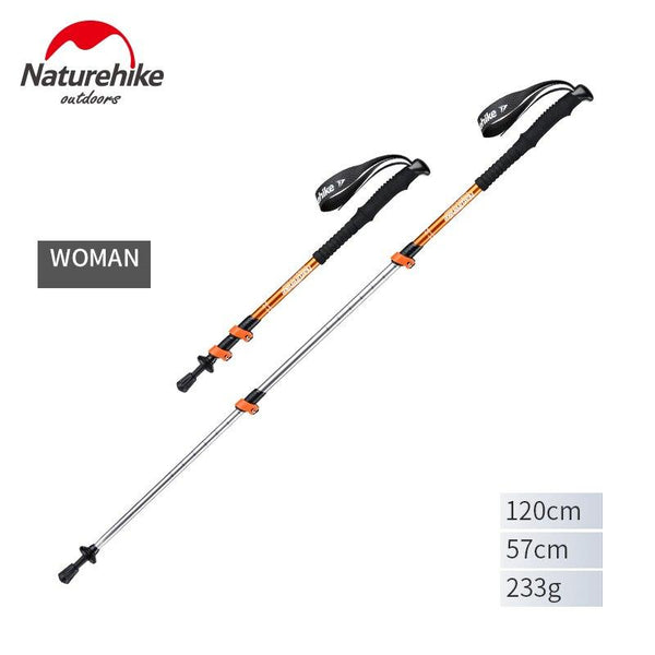 Naturehike Ultralight Trekking Folding Pole Aluminum alloy Alpenstocks Walking Hiking sticks camping family Alpenstocks men boy