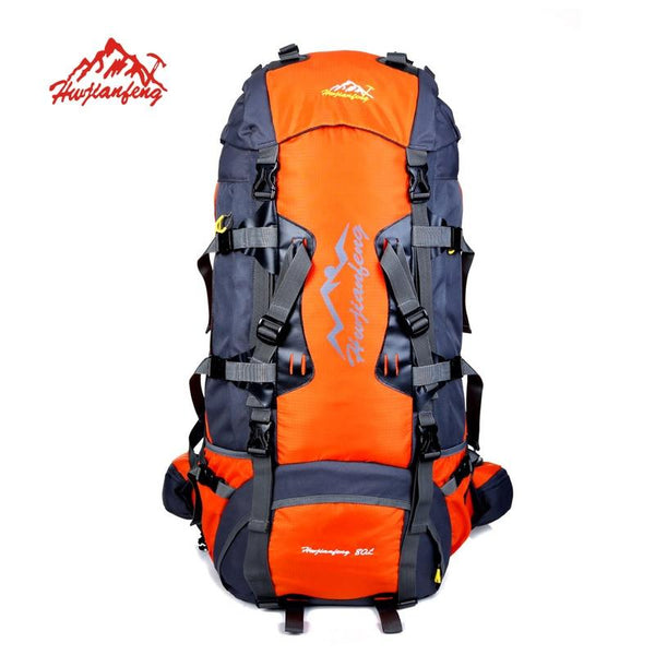 80L Large Outdoor backpack Camping Travel Bag Hiking Backpack Unisex Rucksacks Waterproof sport bags Climbing package
