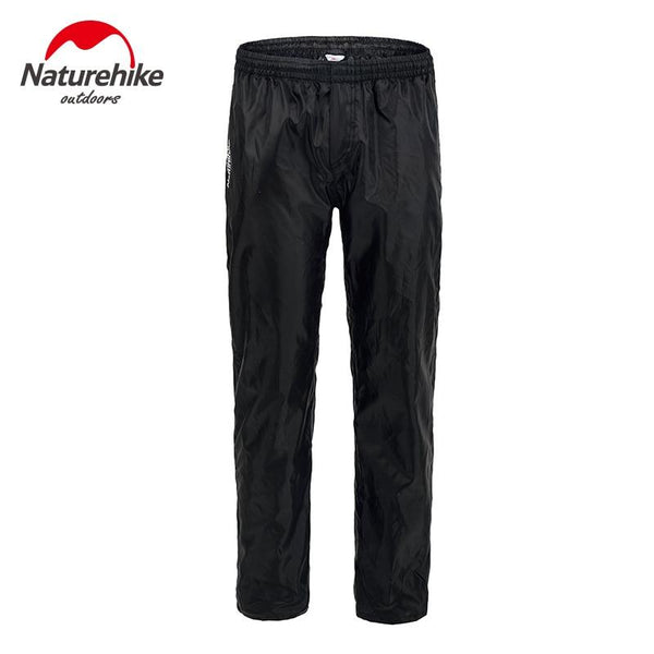 Naturehike Hiking Pants Double zipper pants men and women walking hiking trip bike riding rain waterproof pants 190T nylon