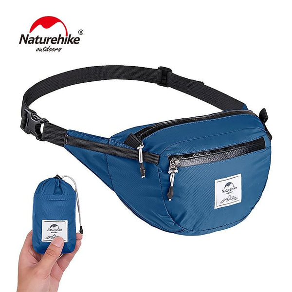 NatureHike Lightweight Water-resistant 6L Waist Pack Travel Outdoor 30D Sports Bag Hiking Running Mini Waist Bag 70g