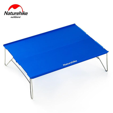 NatureHike Outdoor Foldable Mini Desk Portable Picnic Table Camping Aluminum Alloy Table Folding Stainless Steel Desk NH17Z001-L