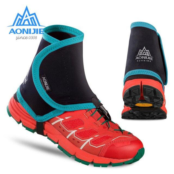 Aonijie Low Trail Running Gaiters Protective Wrap Cycling  Shoe Covers Pair for Men Women Outdoor Prevent Sand Stone