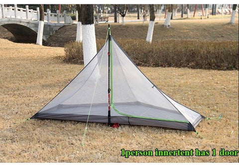 2 Person Oudoor Ultralight Camping Tent 3 Seasons Professional 20D Silnylon Rodless Tent