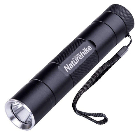 Naturehike Waterpoof Light USB Charging Outdoor Camping Flashlight LED Rechargeable Light Ultralight Power Bank Outdoor Tool (Black)