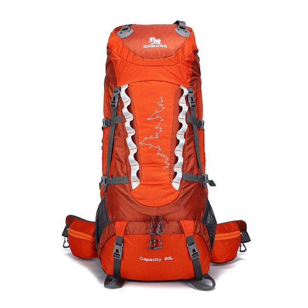 Camping Hiking Backpacks 80L Lifting bracket Outdoor Bag Backpack Nylon superlight Sport Travel Bag Aluminum alloy waterproof