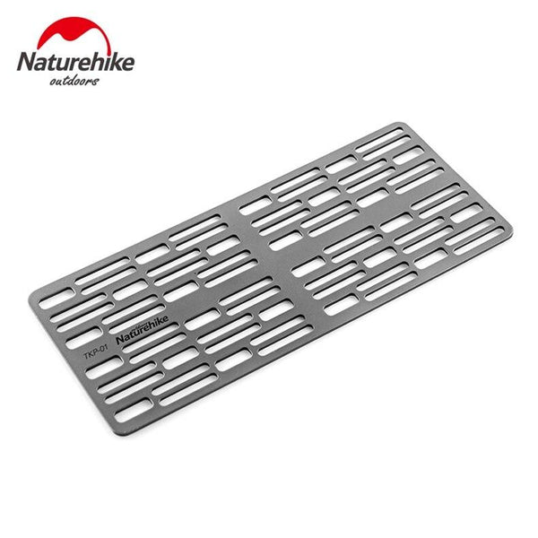 Naturehike Portable Titanium Fire Grill Outdoor Picnic Tool Lightweight BBQ Grill Outdoor Camping Barbecue Plate (Light Grey)