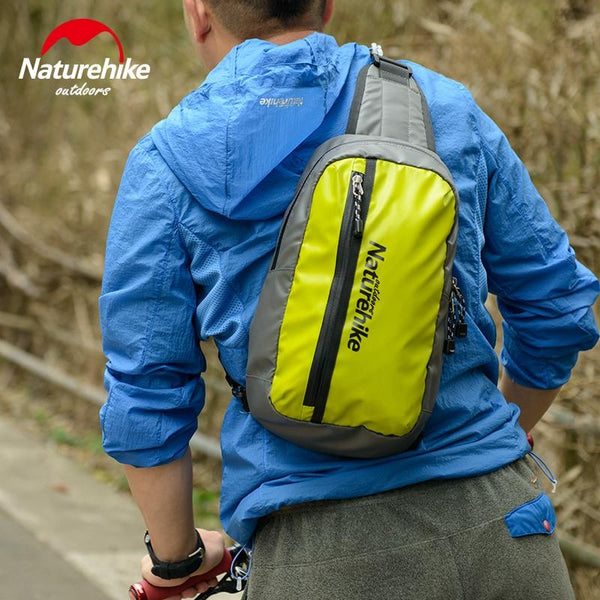 NatureHike Running Bag Multifuction Cycling Cell Phone Waterproof Zipper Men Bag Bag Women Bike Bags Cross Pack Travel 8L
