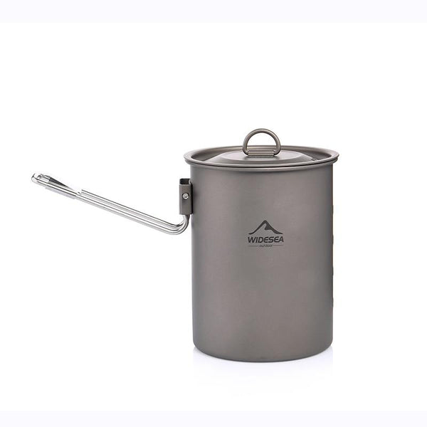 Widesea Camping Cookware Titanium Tableware Tourist Pot Outdoor Cooking Kitchen Picnic Utensils Backpack Hiking Trekking (Titanium Pot)