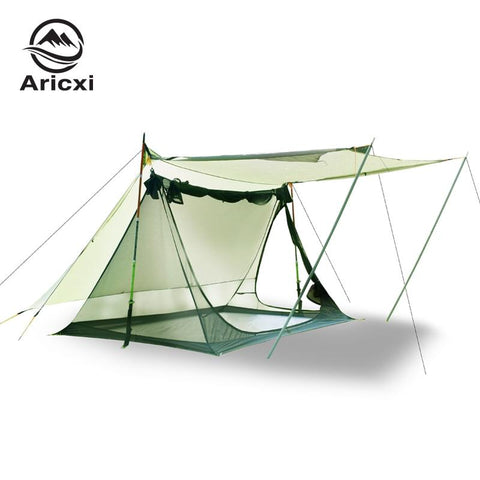 20D Nylon 2 person tent Double Side Silicon Coated Ultra light Beach Awning Oudoor Rainfly Tarp tent