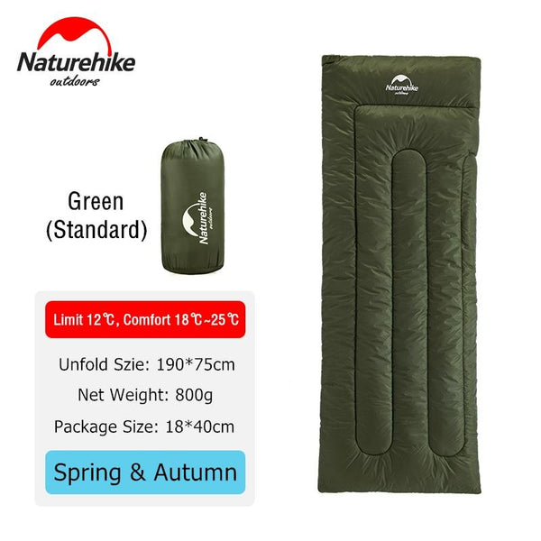 Naturehike Ultralight Rectangular Compact Hiking Sleeping Bag Cotton Waterproof Single Summer Outdoor Camping Sleeping Bag