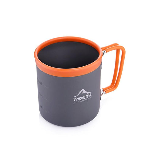 Widesea camping aluminum cup outdoor mug tourism tableware picnic cooking equipment tourist coffee drink trekking hiking (camping mug)