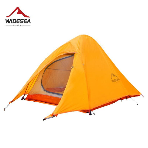 Widesea camping tent 2 person ultralight touist tent solicone coated 1480g with mat for hiking trikking outdoor