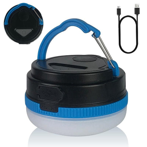 Desert&Fox Rechargeable LED Tent Light Camping Light Magnetic Base Tent Lantern, Battery USB charging Lightweight Backpack Lamp