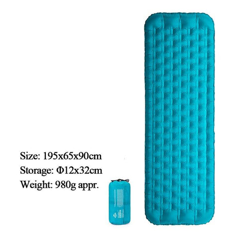 Naturehike outdoor camping mat 20D Nylon inflatable Tube TPU Moisture-proof Pad Ultralight Portable breathable Air Mattress