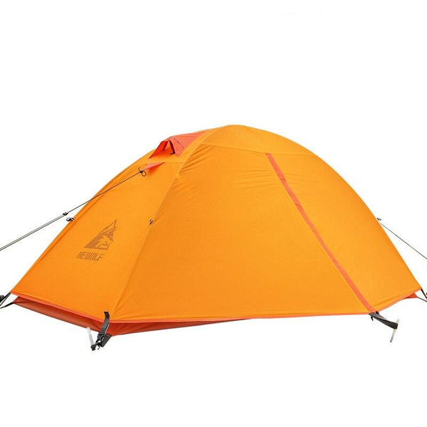 Hewolf Camping Tents Double-layer Single 20D Nylon Silicon Aluminum Pole Ultralight Outdoor Travel Waterproof Cycling Tent