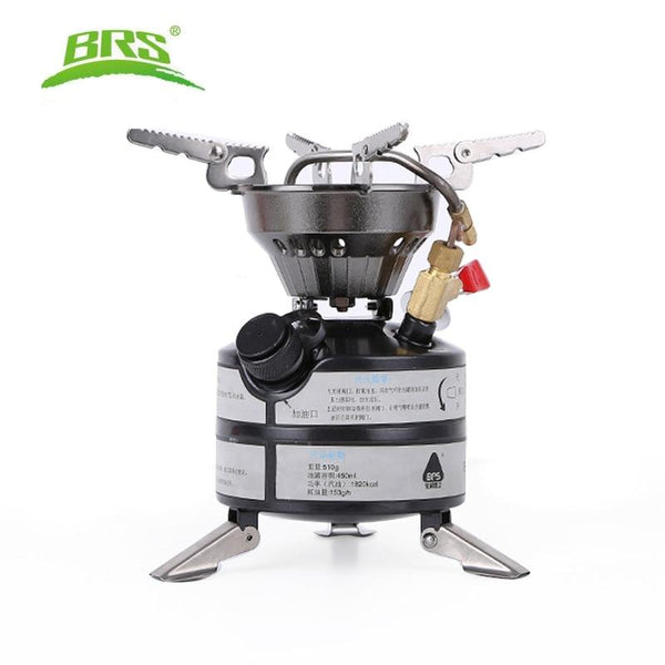 BRS Newest Mini Liquid Fuel Camping Gasoline Stoves Portable Outdoor One-piece Stove Burners Cooker Gas Stove for Outdoor Sports