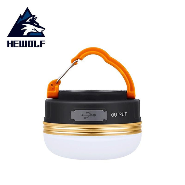 Hewolf Camping Light LED Tent Light Multifunctional Outdoor Light Ultralight Night Hanging Lamp Battery Use Charger Emergency