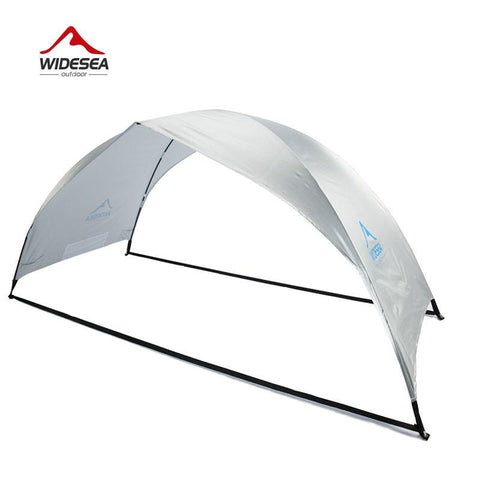 Widesea beach tent awning 2-3 person beach sunshade awning quick open 90% UV-protective awning tent for camping fishing (2-3  person silver)