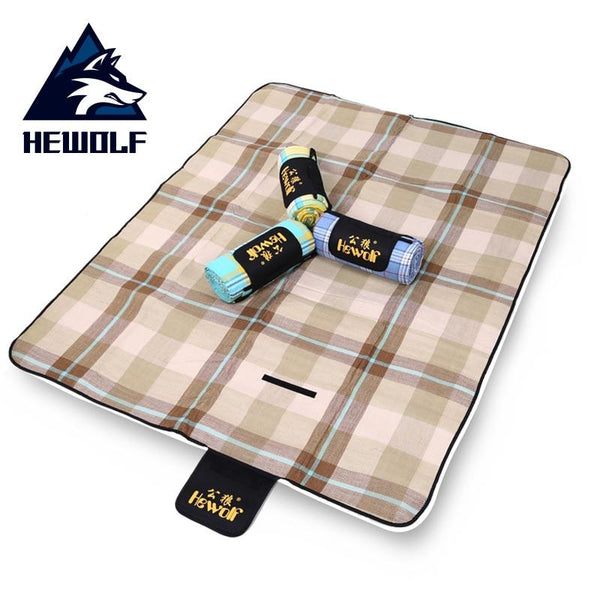 Hewolf Thicken Pad Breathable Blanket Outdoor Folding Waterproof Blanket Camping Beach Plaid Picnic Mat