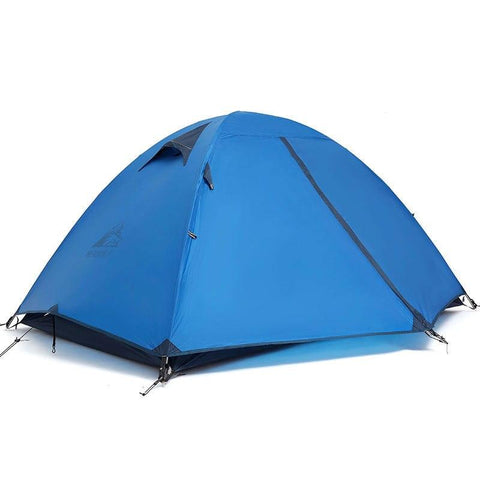Hewolf Ultralight Double Waterproof Tent Camping Tent  20D Nylon Silicone Outdoor Aluminum Pole 2 Person Camp Tents