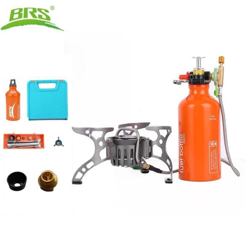 BRS Outdoor Gasoline Stove Burners Camping Equipment Portable Gas Stove Multi-Use Camping Stove for Outdoor Cooking Picnic