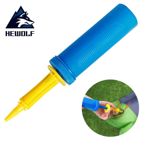 Hewolf Portable Hand-held Inflator for Mattress/Pillow/ Party balloon/Swimming ring Mini Pump Outdoor Camping Travel Equipment (Random color)