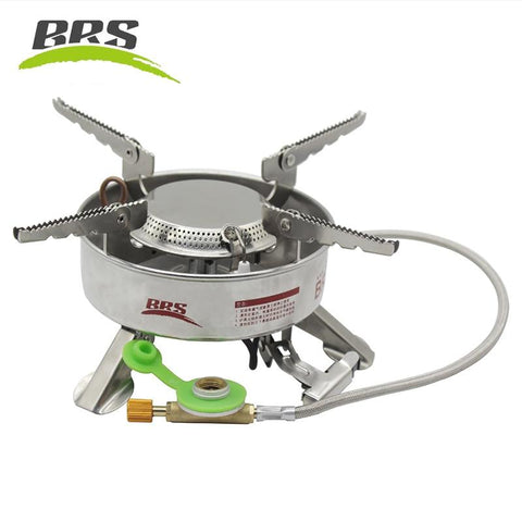 BRS-10 Windproof Gas Stove Outdoor Camping Hiking Equipment Cooker Stainless Steel Strong Firepower Cooking Stove Gas-burner