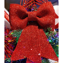 Red Glitter Christmas Bow