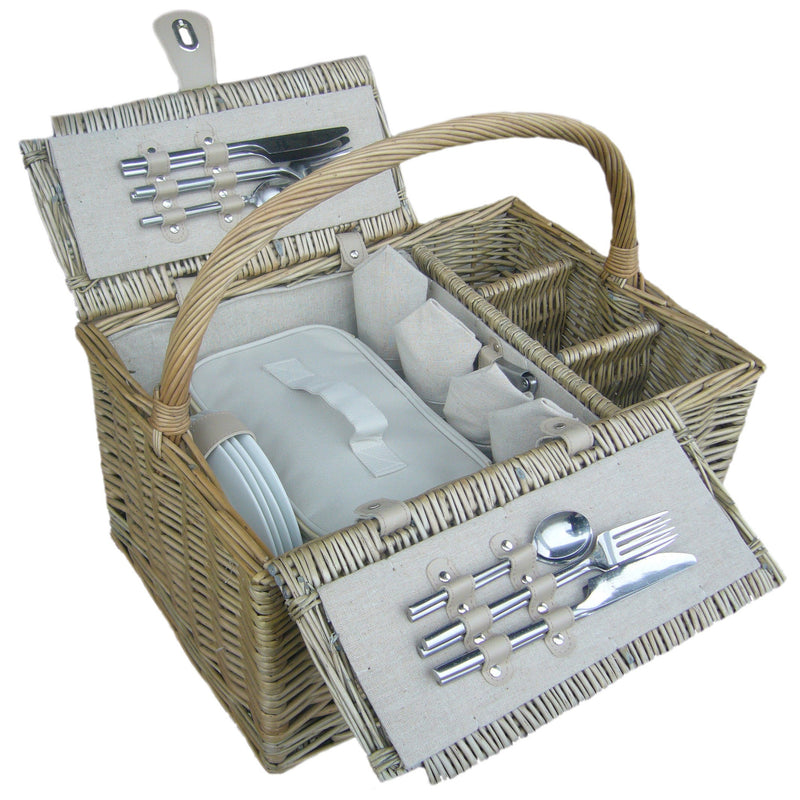 Luxury Double Lidded Willow Hamper - 4 Person (Collection Only)