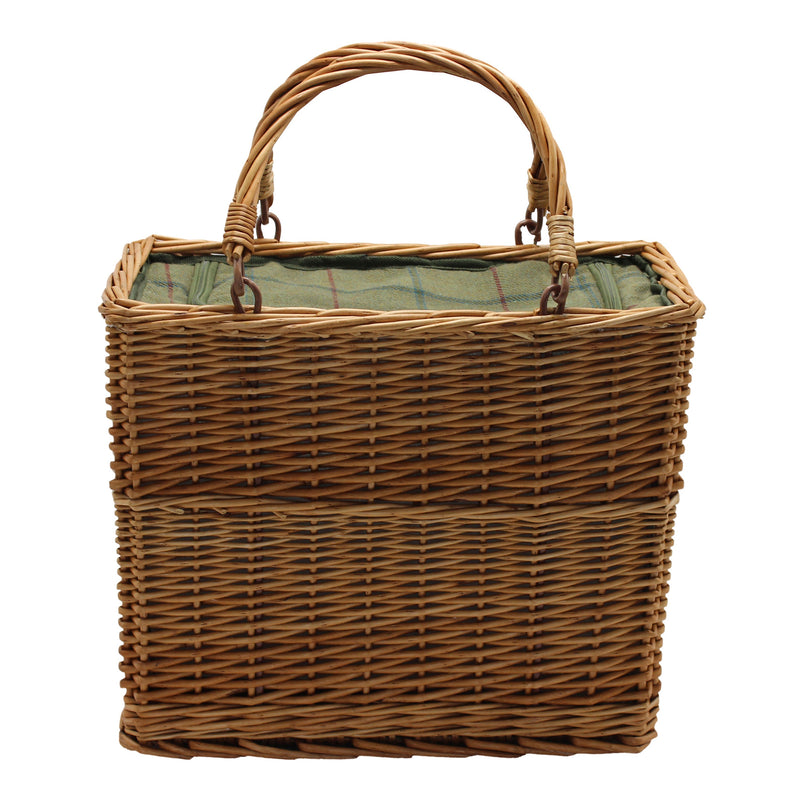 Beautiful Green Tweed Cooler Basket (Collection Only)