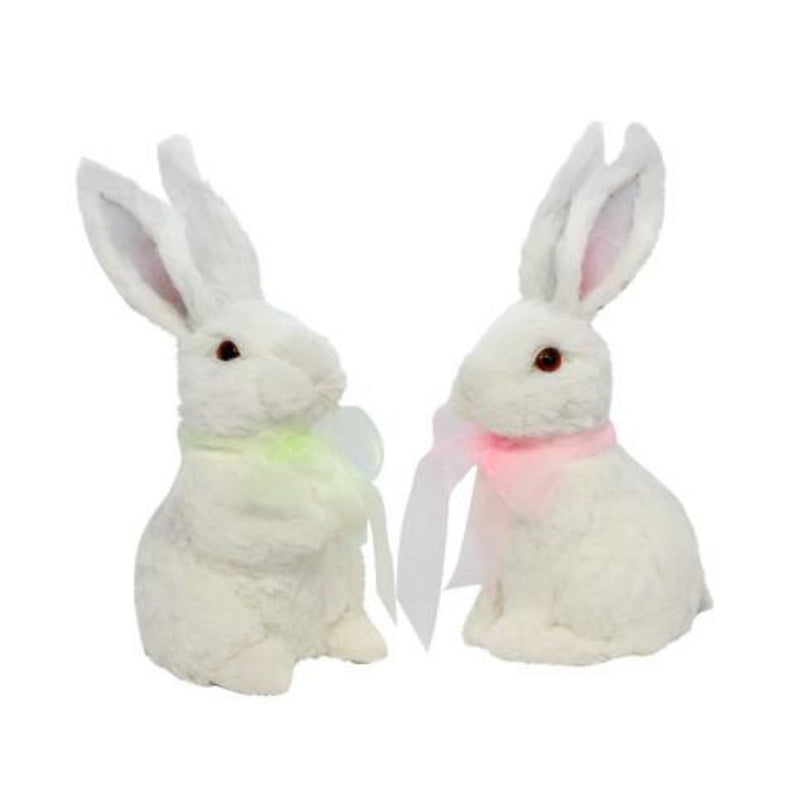 Bristle Bunny with Pink Ribbon