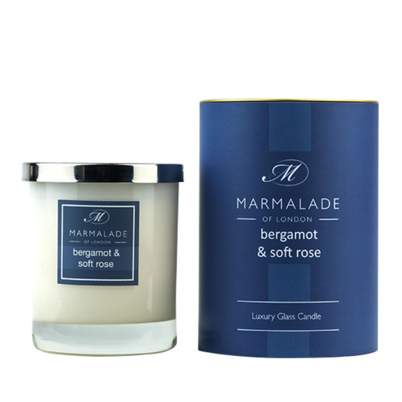 Marmalade Bergamot & Soft Rose Glass Candle