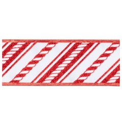 Candy Cane Red & White Ribbon