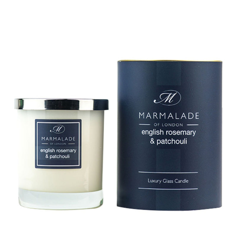 Marmalade English Rosemary & Patchouli Glass Candle