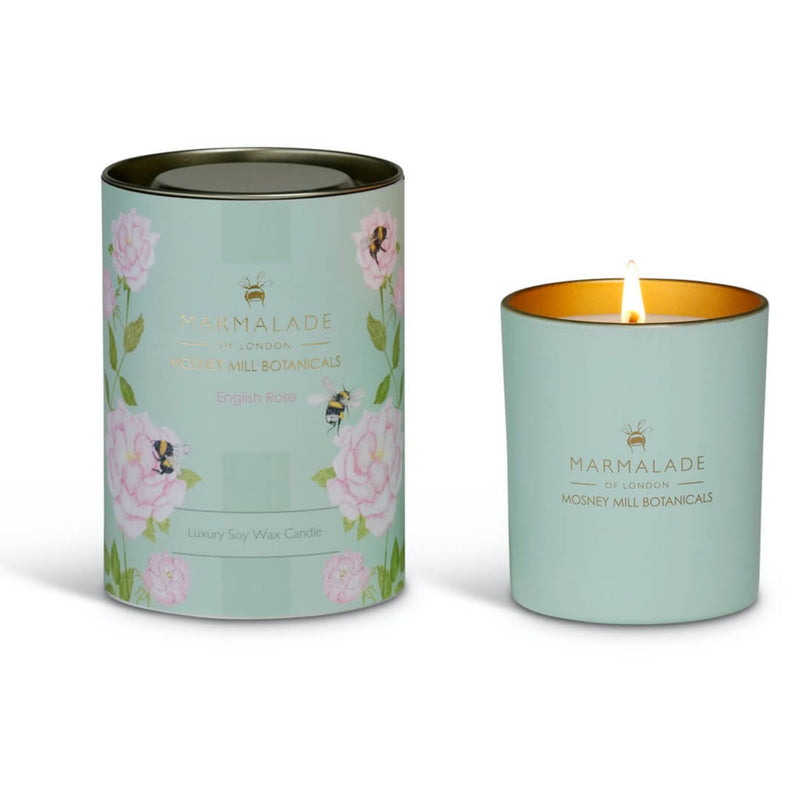 Marmalade Mosney Mill Botanicals English Rose Soy Wax Candle