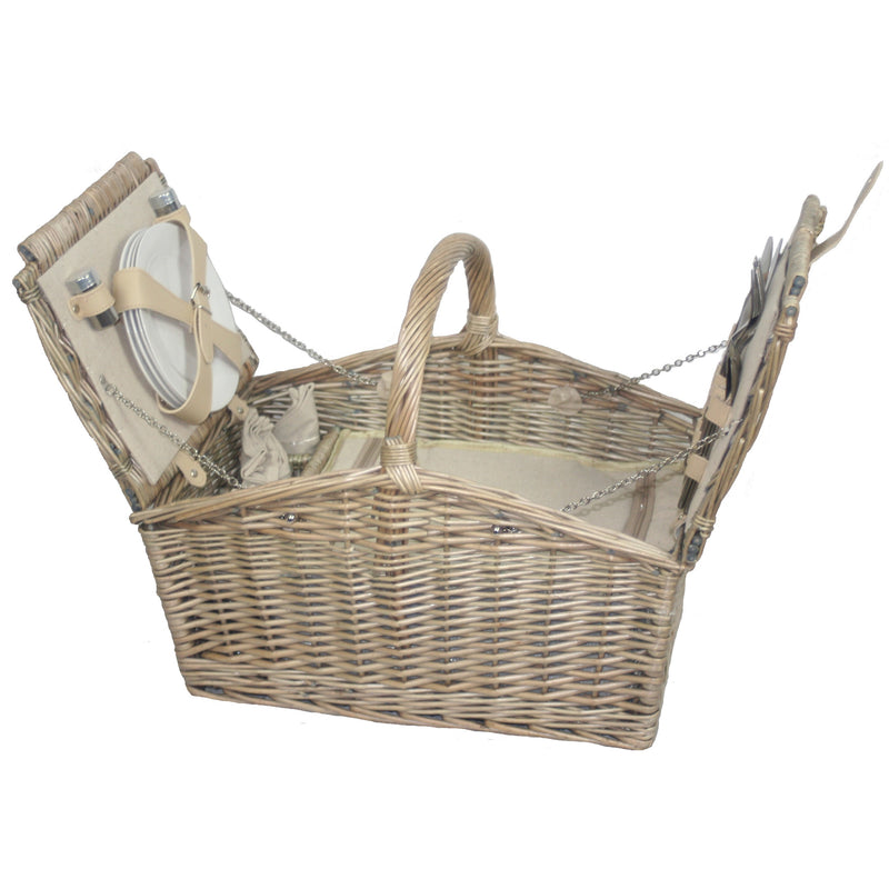 Traditional Style Willow 4 Person Picnic Hamper (Collection Only)