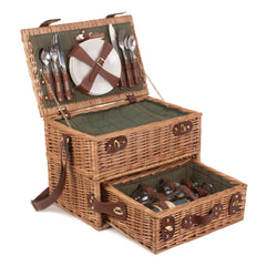 Luxury 4 Person Tweed Picnic Hamper with Drawer (Collection Only)
