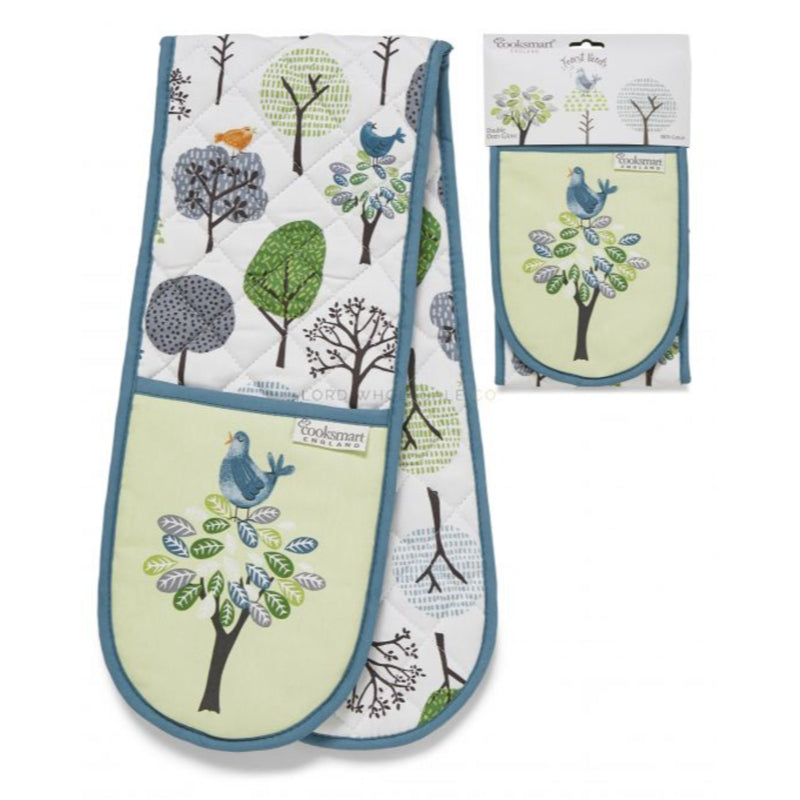 Forest Birds By Cooksmart Double Oven Glove