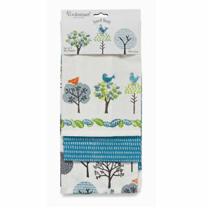 Forest Birds By Cooksmart Set of 3 Tea Towels