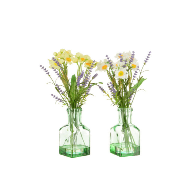 Yellow Narcissi & Lavender Bottle