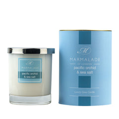 Marmalade Pacific Orchid & Sea Salt Glass Candle