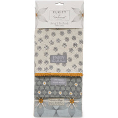 Purity By Cooksmart set of 3 Tea Towels