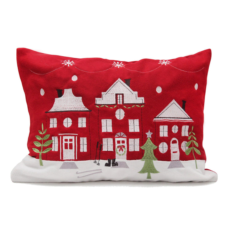 Ski Chalet Christmas Cushion