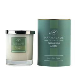 Marmalade Tuscan Lime & Basil Glass Candle