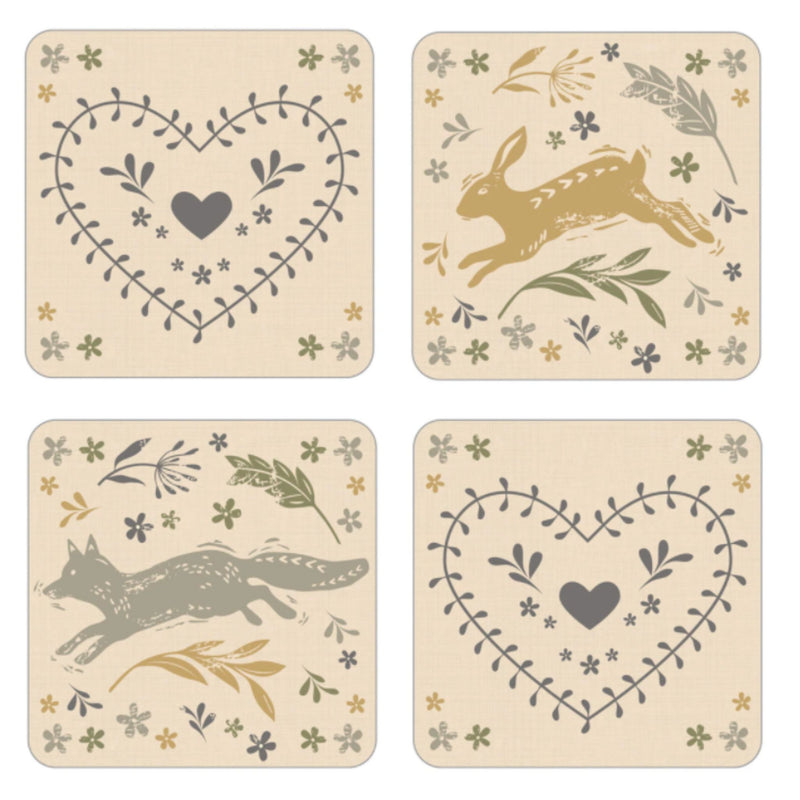 Woodland Set of 4 Coasters