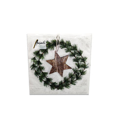 Ambiente Wreath And Star Cocktail Napkins