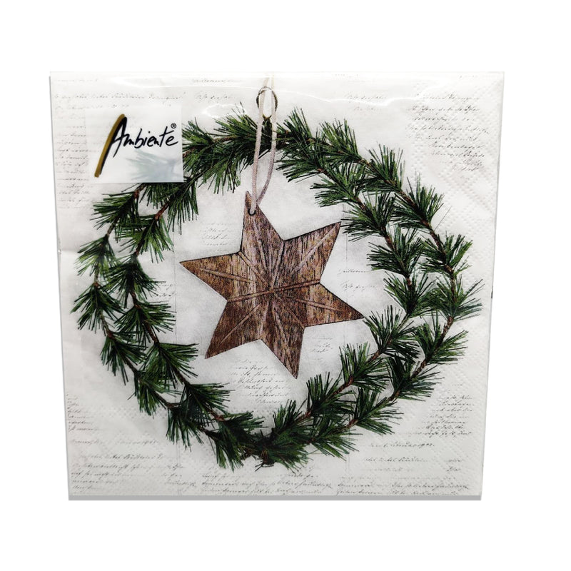 Ambiente Wreath And Star Lunch Napkins