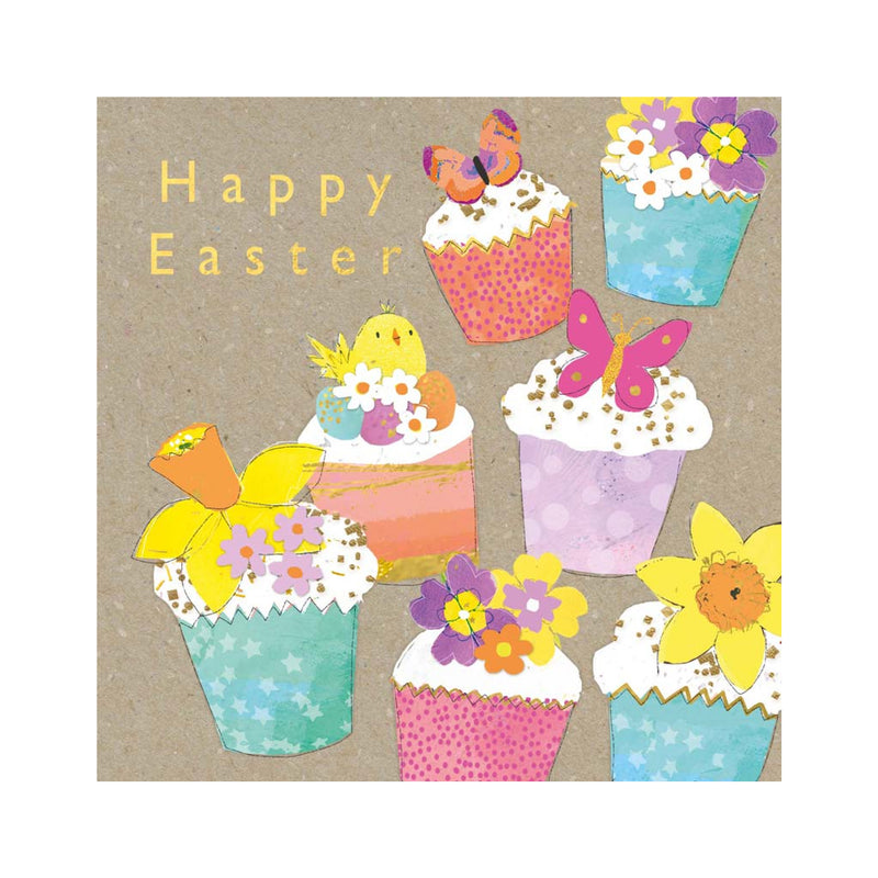 Happy Easter Card with Cupcakes